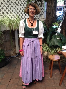Here I am wearing a dirndl