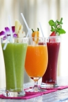 Healthy juices at Absolute Sanctuary