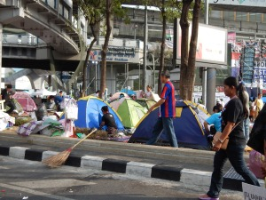 Protesters camping out in Pathuman