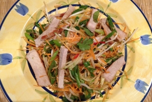 Pork and apple salad