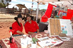 Hannah and Evan at the Uluru Camel Cup