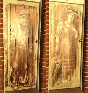 Toilet doors at Quarantine Station wharf, Sydney