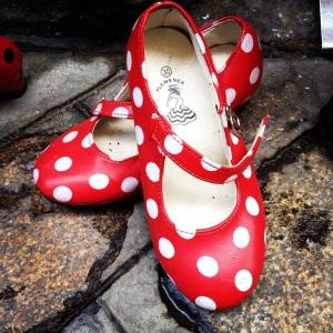 Cute children's Flamenco-inspired shoes
