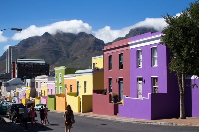 The colourful Bo-Kaap district in Cape Town