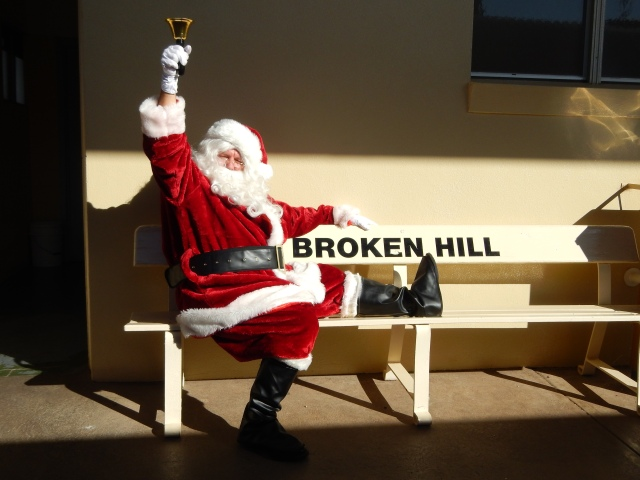 Santa taking time out in Broken Hill. Image Briar Jensen