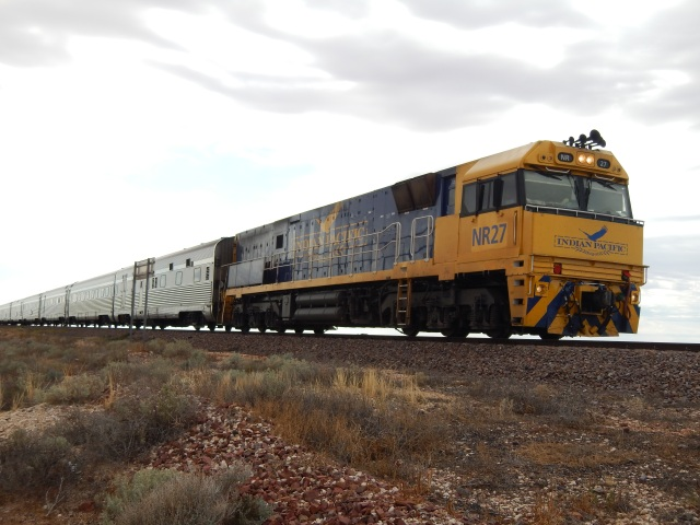 the Indian Pacific at Watson. Image Briar Jensen