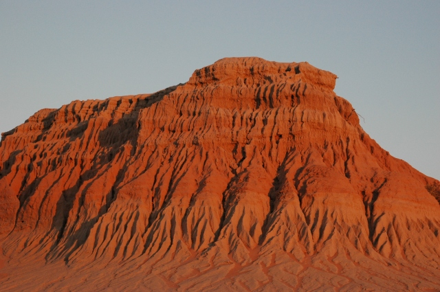 Sunset on the Walls of China in Mungo National Park