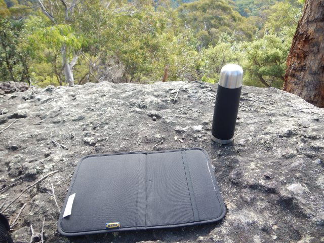 Lunch in the bush is a lot more comfortable with  the Seat Pad.