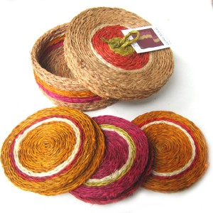 Coasters made by rural women in Swaziland