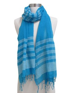 Handwoven cotton scarf made in Ethiopia