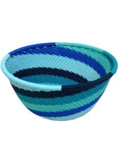 Telephone wire bowl made by weavers in KwaZulu-Natal