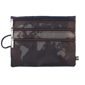 World Map zippered pouch is great for the plane