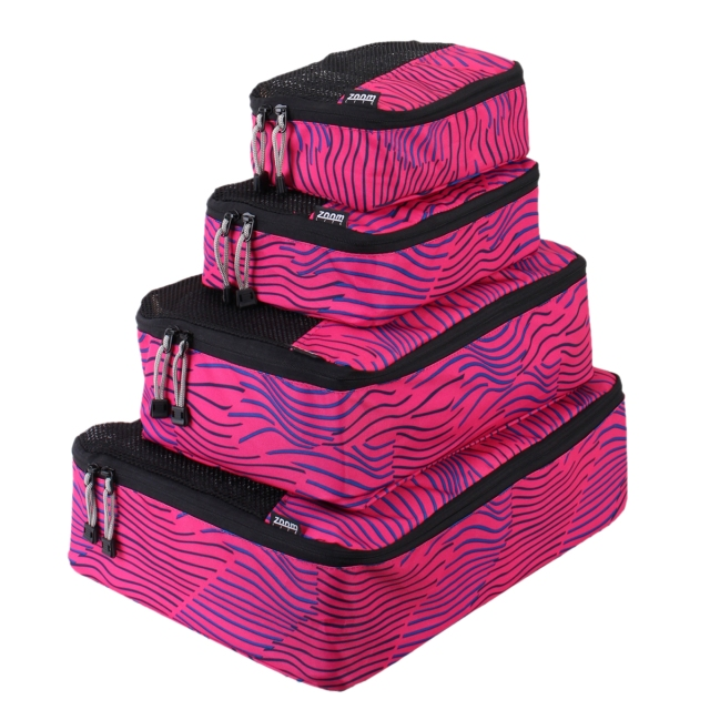 Packing cells don't have to be boring - just look at these pink stripe ones from Zoomlite.