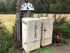 Old fridges used for selling bread